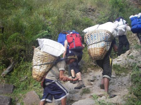 Porteurs Népal